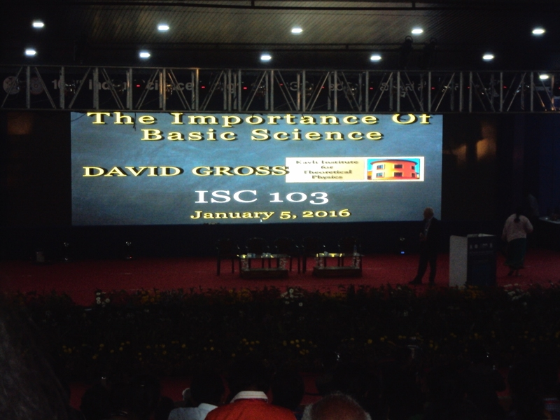 Gross said basic sciences are important to satisfy one's curiosity and produce novel technology (Photo: Jigyasa Watwani)